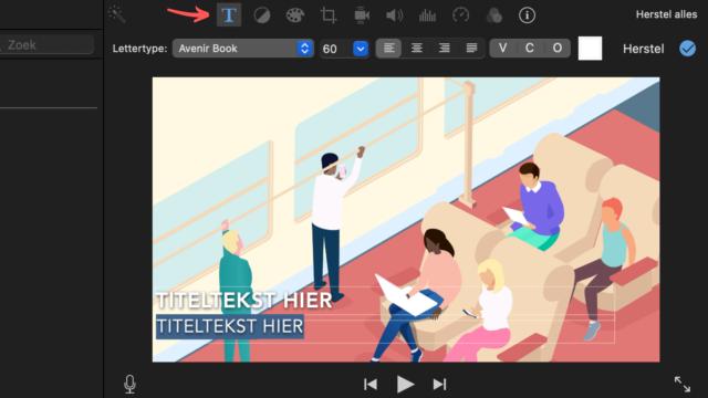ondertiteling iMovie - pas de stijl van de titel aan