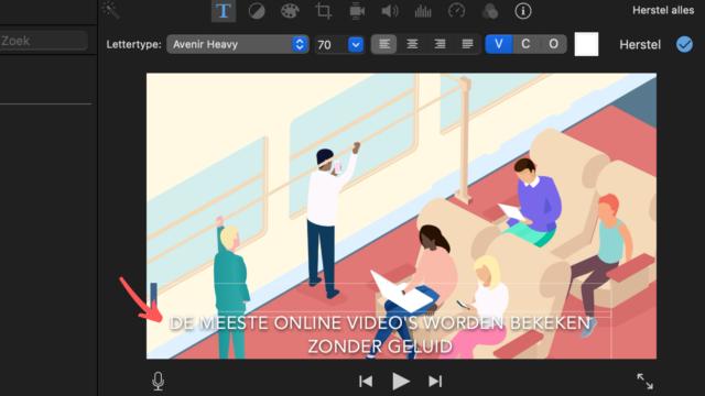 ondertiteling iMovie - voeg de tekst in