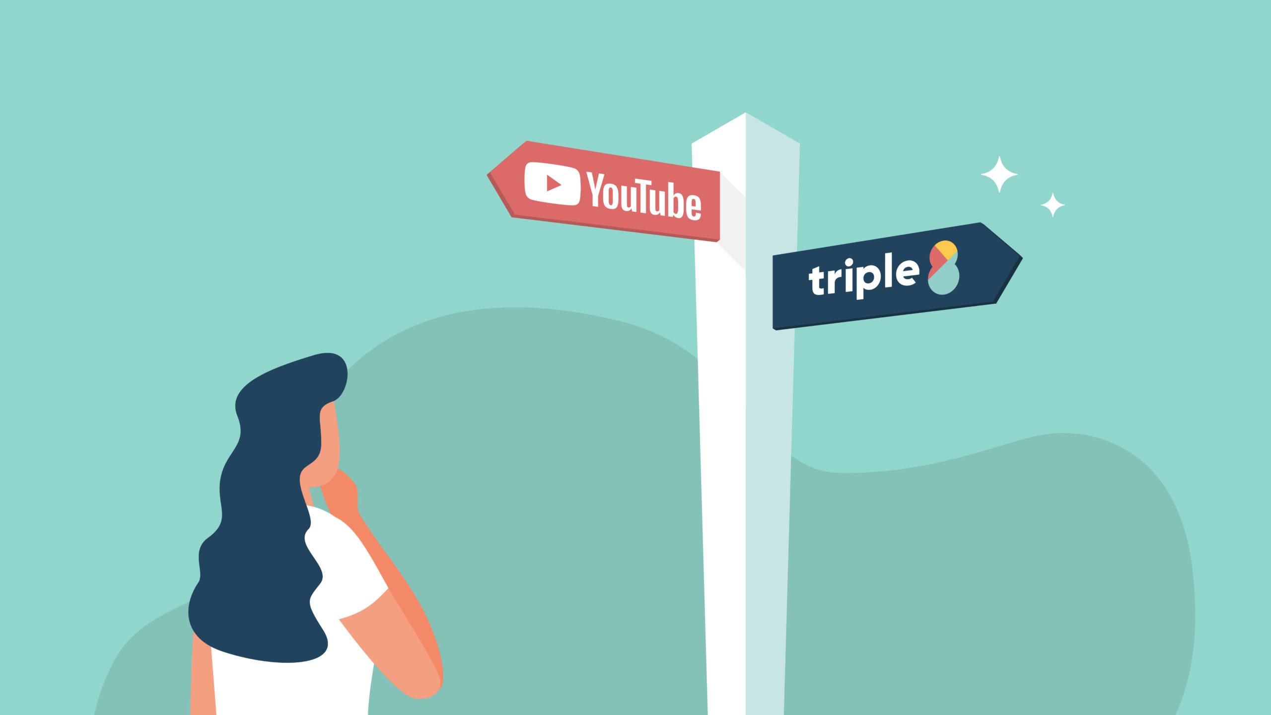 Automatic captions YouTube versus Triple8